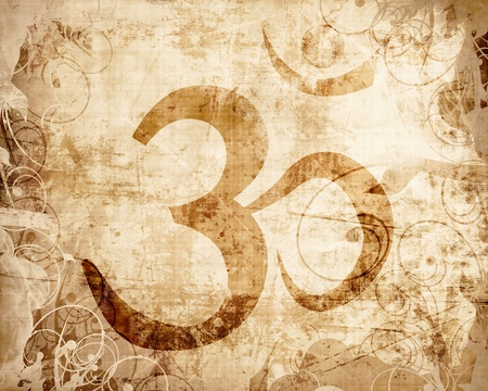Om symbol with some smooth lines and highlights Stock Photo - 15612755