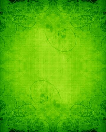 Green and fresh background with soft highlights and lines Stock Photo - 15612709
