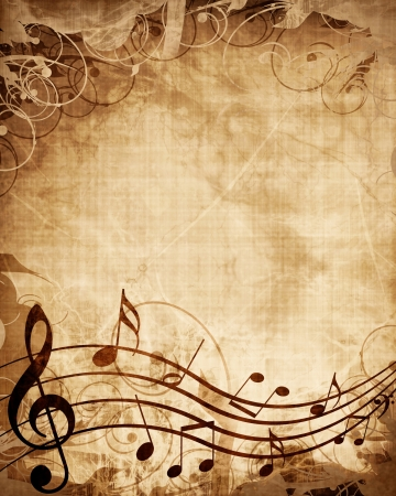 composer: Old music sheet with musical notes