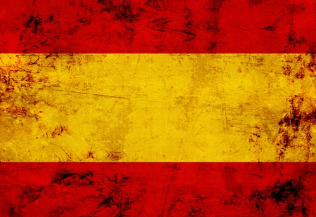 spanish style: Spanish flag with a vintage and old look