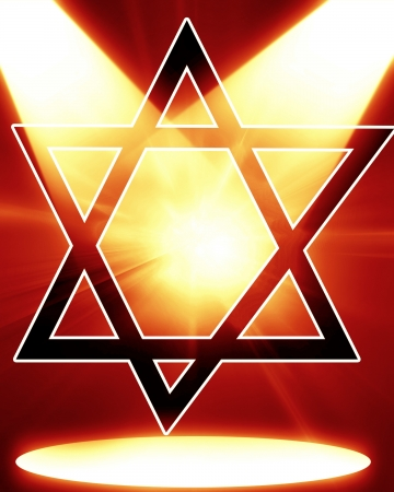 Star of David, representing the Jewish religious symbol Stock Photo - 15612651