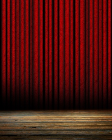 famous actor: Movie or theater curtain with soft shades