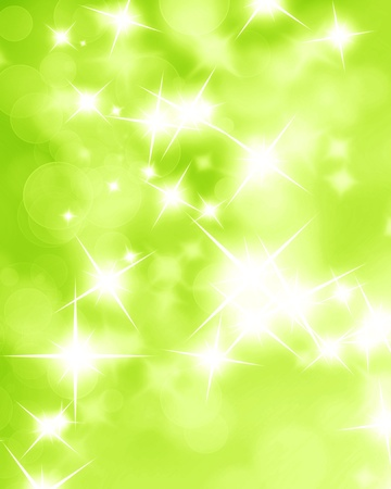 Green and fresh background with soft bokeh effects and white overlapping circles photo