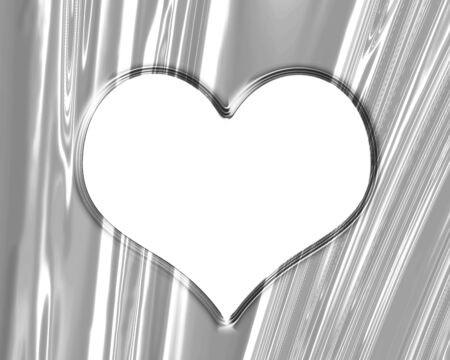 Metallic heart with some soft reflections and highlights Stock Photo - 15752759