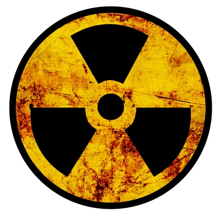 hazardous material: Nuclear sign representing the danger of radiation  Stock Photo