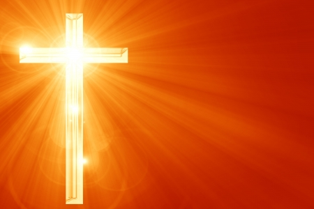 Представление христианство с символом креста