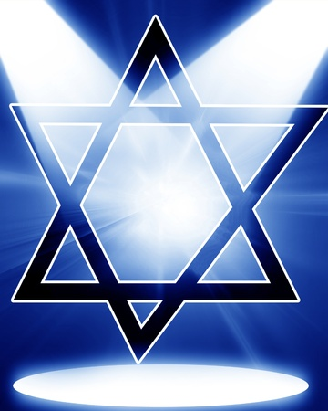 Star of David, representing the Jewish religious symbol Stock Photo - 15752754