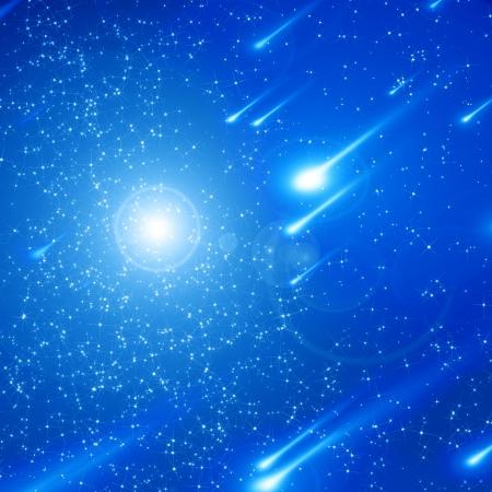 tiro al blanco: Azul cielo nocturno lleno de estrellas twinkiling