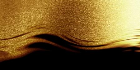 金色の背景にいくつかの反射光し、ハイライト 写真素材