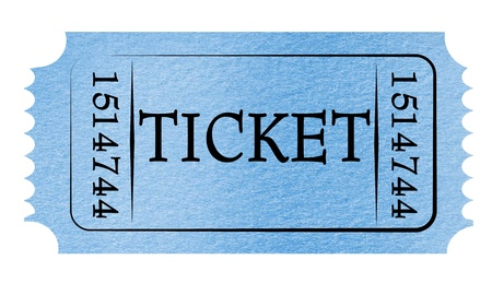 ticket stubs: Admit ticket on a solid white background