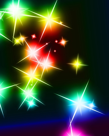 Bright sparkling background with several glowing and twinkling stars Stock Photo - 16419822