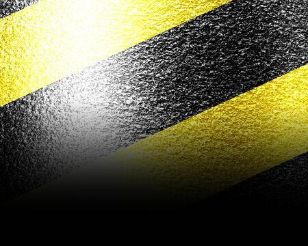 safety: Black and yellow hazard lines with grunge effects Stock Photo
