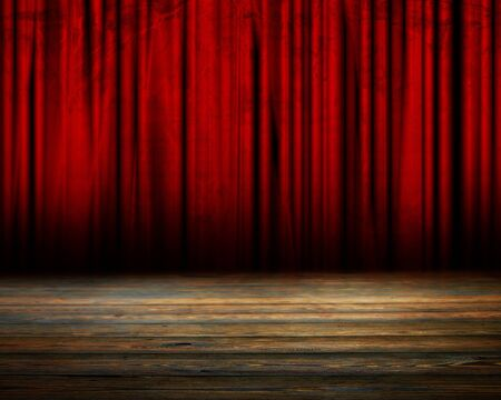 movie theater: Movie or theater curtain with soft shades