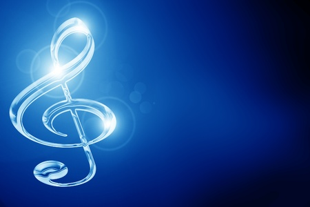 dark background: Colorful musical note on a soft dark background Stock Photo