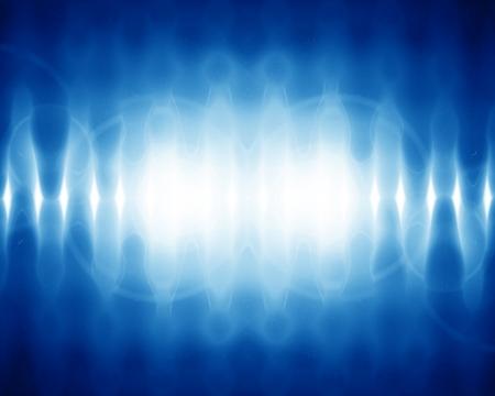 明るい青色の背景にサウンド ウェーブ