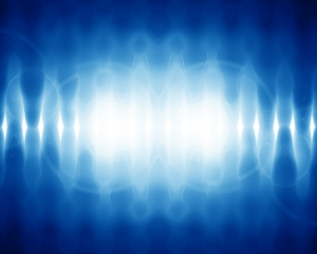 sound wave on a bright blue background Stock Photo