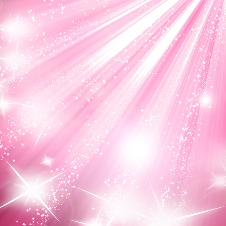 glittery: Pink background with smooth highlights and shades Stock Photo