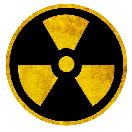 Nuclear sign representing the danger of radiation  photo