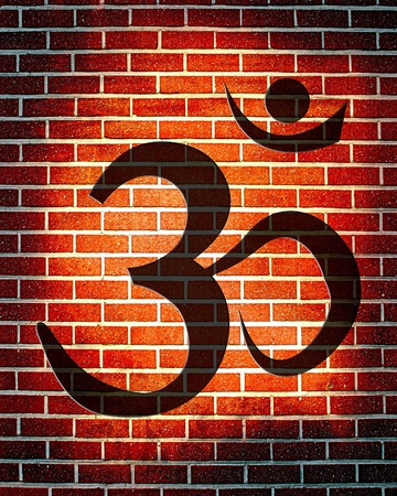 Om symbol with some smooth lines and highlights Stock Photo