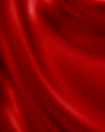 satiny cloth: Red silk background with some soft folds and highlights