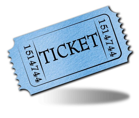 allow: Admit ticket on a solid white background