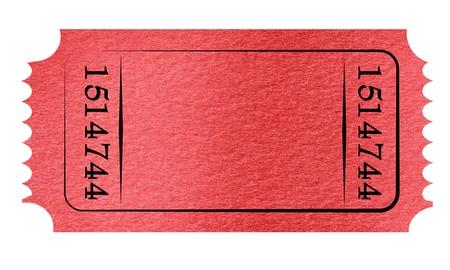 Toegeven ticket op een stevige witte achtergrond