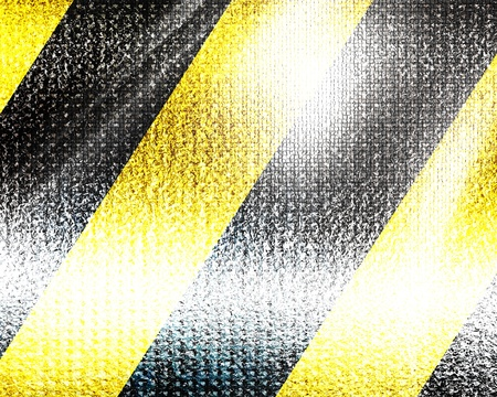 Black and yellow hazard lines with grunge effects photo