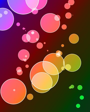 Dotted background with some overlapping circles and several colors photo