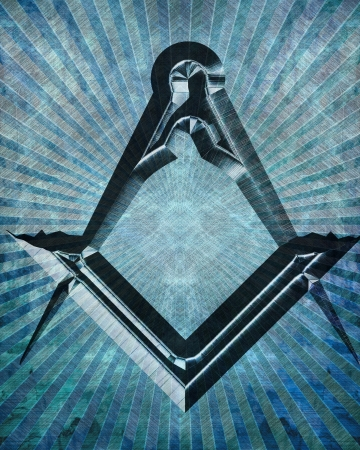 freemasonry: Masonic square and compass with some soft highlights