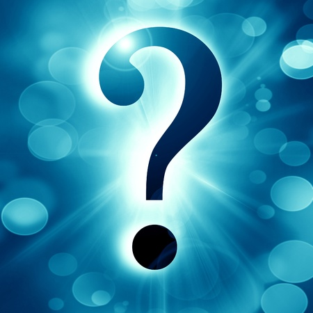 Question mark on a soft dark background Stock Photo - 16749294
