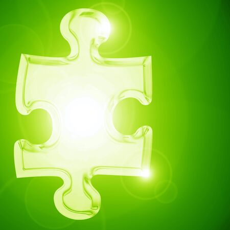 Glowing puzzle piece with some soft highlights Stock Photo - 16749302