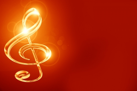 Colorful musical note on a soft dark background Stock Photo