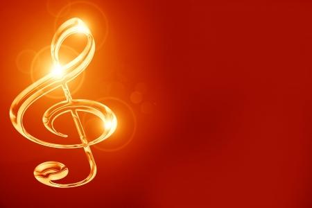 nota musical: Nota musical colorido sobre un fondo oscuro suave Foto de archivo