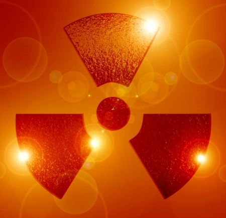 Nuclear sign representing the danger of radiation  Stock Photo - 16749326