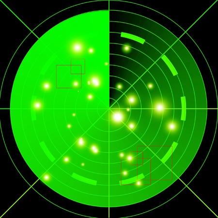 sonar: Radar schermo verde di eseguire una scansione della regione