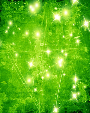 Green and fresh background with soft highlights and sparkles Stock Photo - 16749431