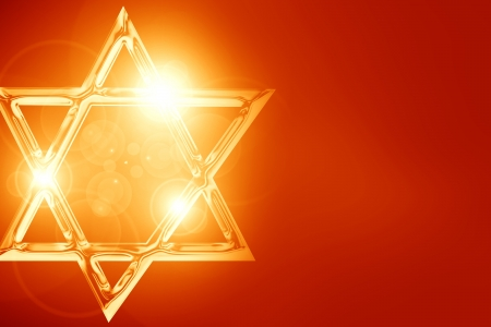 jewish star: Star of David, representing the Jewish religious symbol Stock Photo
