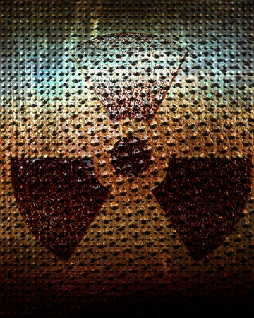 radioisotope: Nuclear sign representing the danger of radiation  Stock Photo