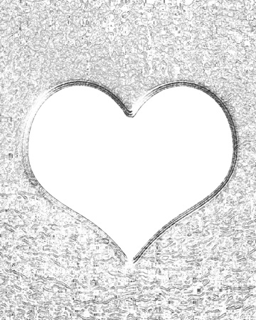 silver wedding anniversary: Metallic heart with some soft reflections and highlights