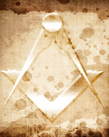 masonary: Masonic square and compass with some soft highlights