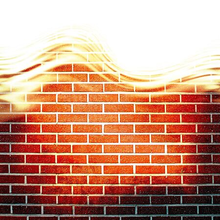 Grunge brick wall with some damage and cracks Stock Photo - 18102830