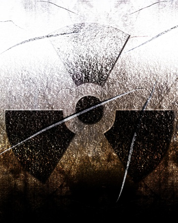 Nuclear sign representing the danger of radiation Stock Photo - 18102807