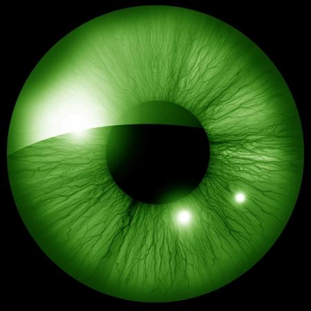 Menselijke iris met een aantal hoogtepunten en reflecties