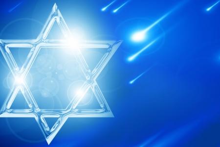 zion: Star of David, representing the Jewish religious symbol Stock Photo