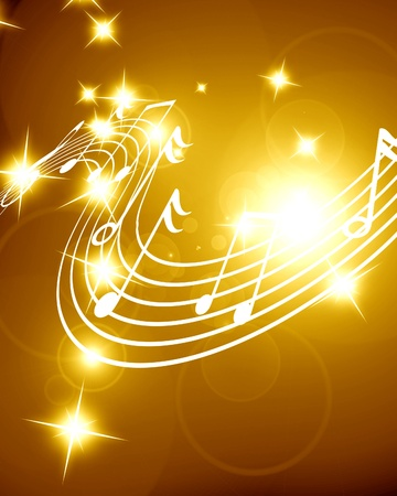 Colorful musical notes on a soft dark background Stock Photo - 18102330