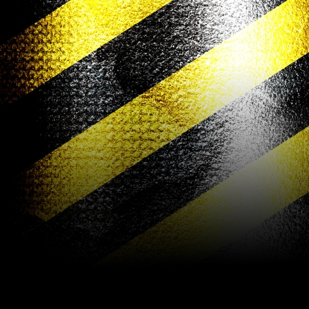 Black and yellow hazard lines with grunge effects Stock Photo - 18102924