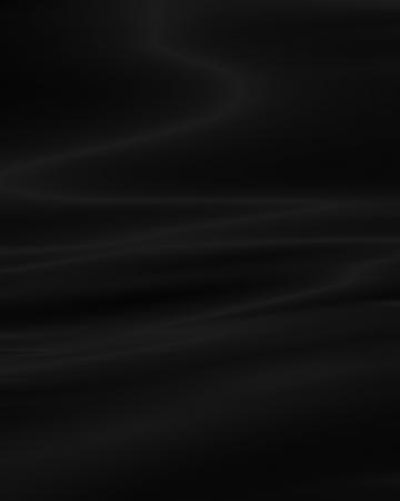 Zwarte achtergrond die lijkt op doek, doek, verf, zijde of satijn materiaal met golvende lijnen