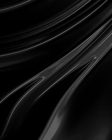 sleek: Black background resembling cloth, canvas, paint, silk or satin material with waving lines