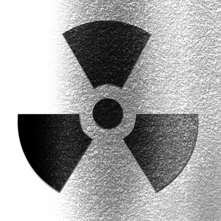 polution: Nuclear sign representing the danger of radiation  Stock Photo