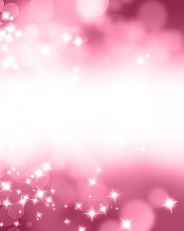 Pink glitters on a soft blurred background with smooth highlights